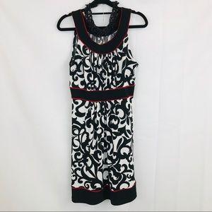 Enfocus Studios | Red, Black & White Halter Dress